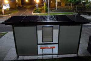 Solar Bus Shelter Illumination