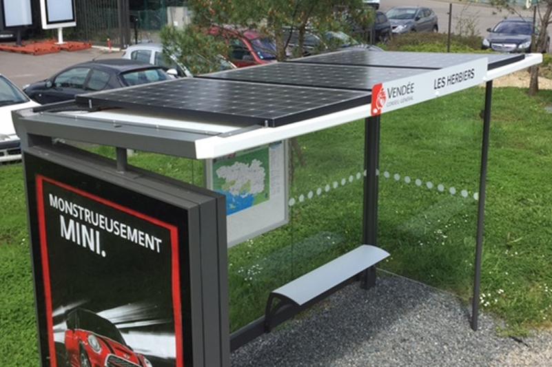 Solar Bus shelter France