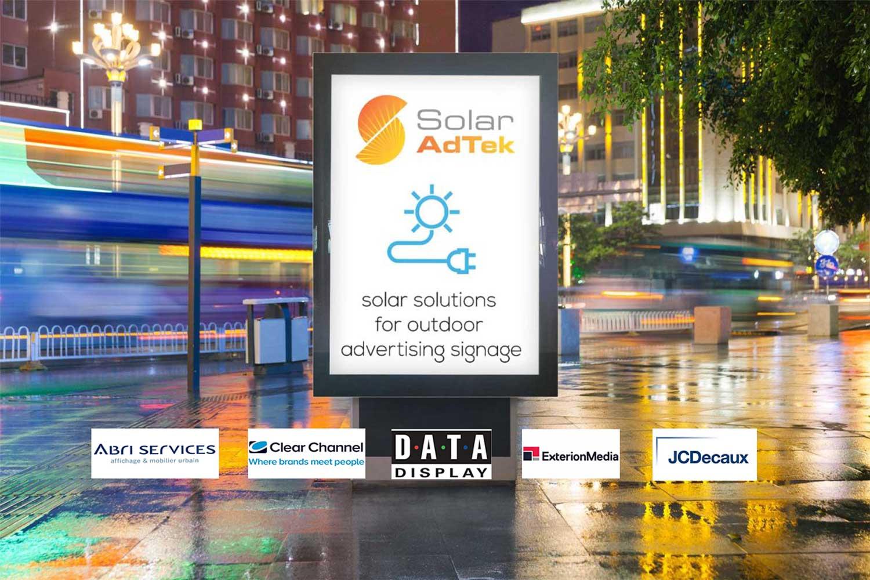outdoor solar advertising