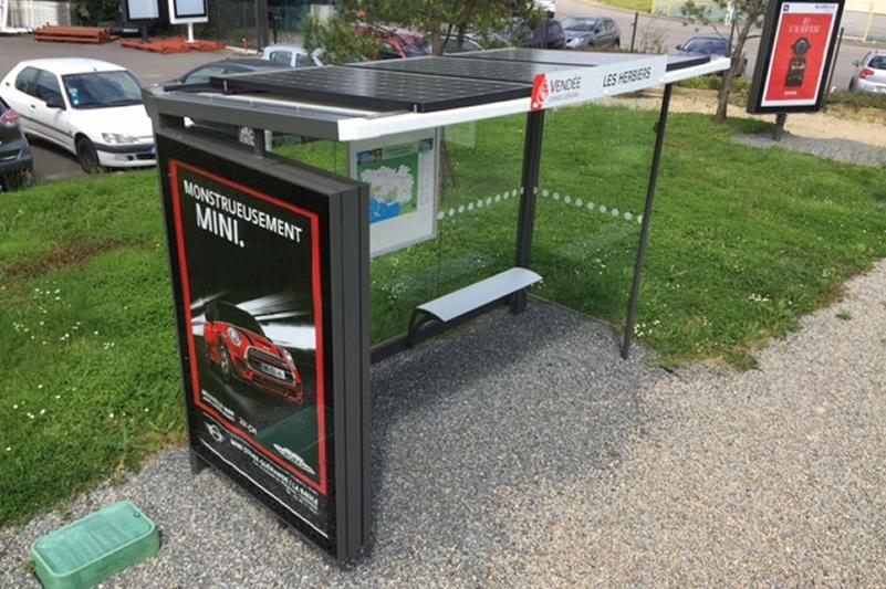 Bus Shelter France Solar Adtek