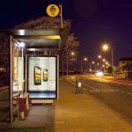 Bus shelter lighting